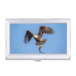 Bald Eagle with a fish Business Card Holder