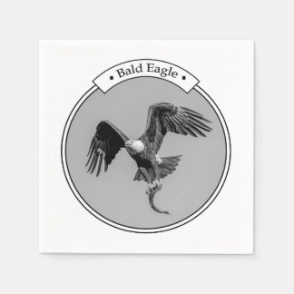 Bald Eagle with a fish Disposable Napkins