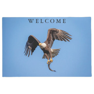 Bald Eagle with a fish Doormat