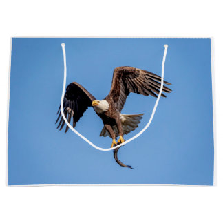 Bald Eagle with a fish Large Gift Bag