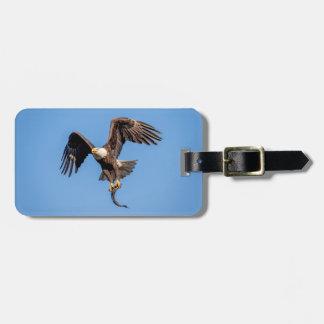 Bald Eagle with a fish Luggage Tag