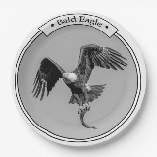 Bald Eagle with a fish Paper Plate