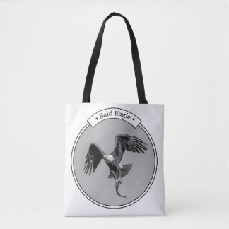 Bald Eagle with a fish Tote Bag