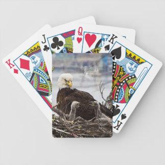 Bald Eagle with eaglets Poker Deck
