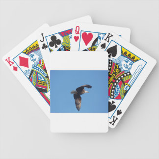bald eagle with fish bicycle playing cards