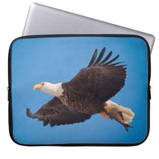 Bald Eagle With Fish Laptop Computer Sleeve