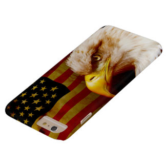 Bald eagle with flag barely there iPhone 6 plus case