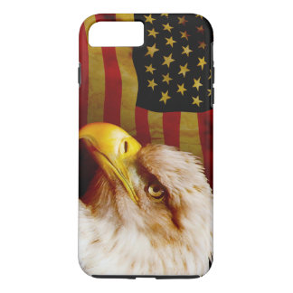 Bald eagle with flag iPhone 7 plus case