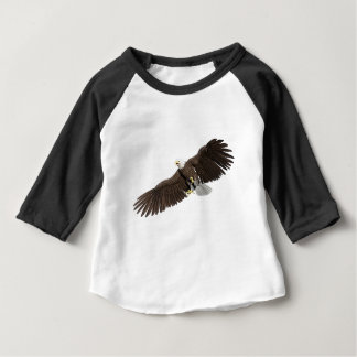 Bald Eagle with wings on down stroke Baby T-Shirt