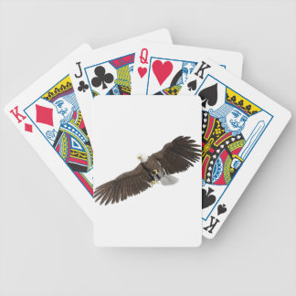 Bald Eagle with wings on down stroke Bicycle Playing Cards