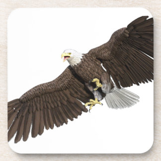 Bald Eagle with wings on down stroke Coaster