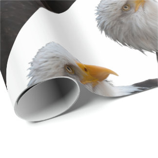 Bald eagle wrapping paper