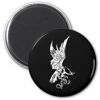 Bald Eagles 2 Inch Round Magnet