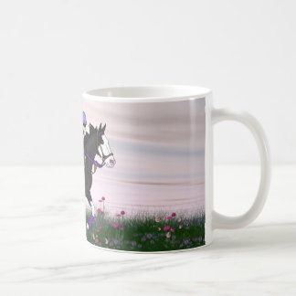 Bald Face Paint Horse and Rider Coffee Mug