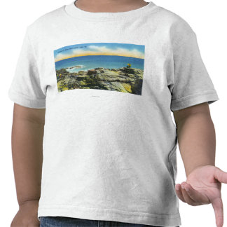 Bald Head Cliffs View of the Rocks and Surf Tshirt