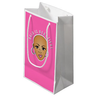 Bald is beautiful small gift bag