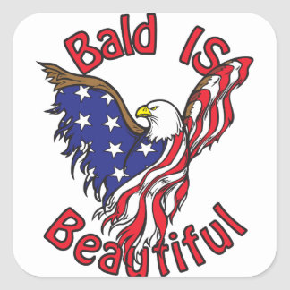 Bald is Beautiful - style4 Square Sticker