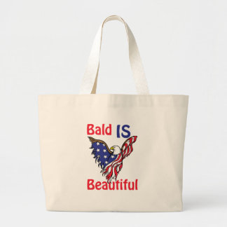 Bald is Beautiful - style 1 Large Tote Bag