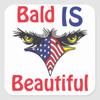 Bald is Beautiful  - style 2 Square Sticker