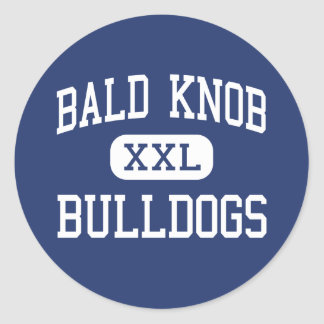 Bald Knob Bulldogs Middle Bald Knob Arkansas Round Stickers