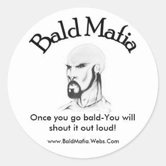 Bald Mafia Sticker - Small