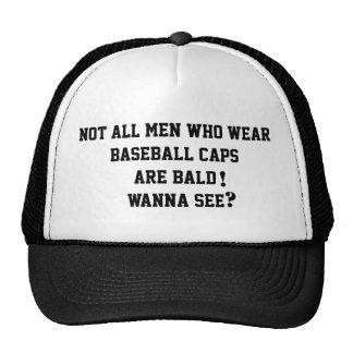 Bald Man's Baseball Cap Funny Outrageous Trending Trucker Hat