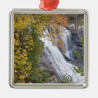 Bald River Falls Silver-Colored Square Ornament