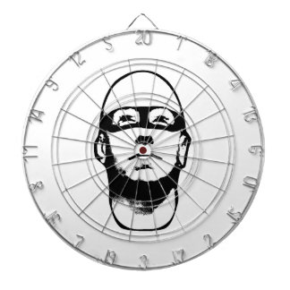 Baldhead Hero Illustration Dart Board