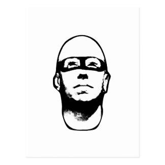 Baldhead Hero Illustration Postcard