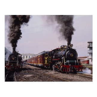Baldwin 4-8-0, No. 76, leaves Bogota station, Colo Postcard