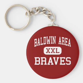 Baldwin Area - Braves - Vocational - Milledgeville Basic Round Button Keychain