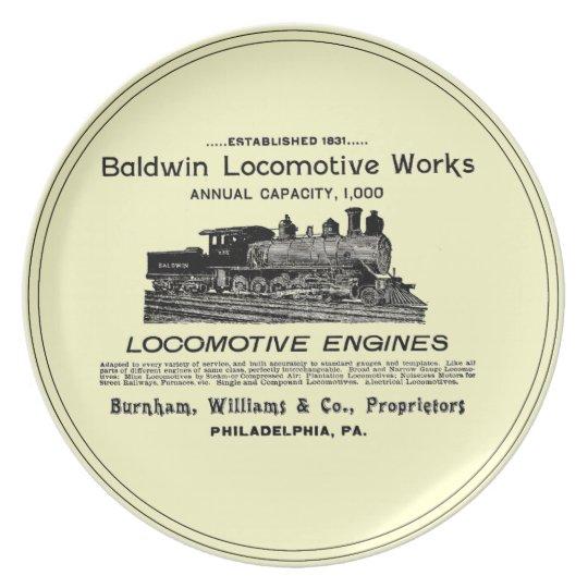 Baldwin Locomotive Works 1895 Dinner Plates