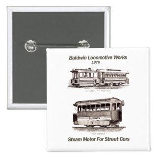 Baldwin Steam Motor For Street Cars 1876 Buttons