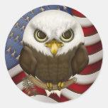 Baldwin The Cute Bald Eagle Stickers