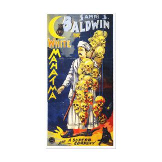 Baldwin The White Mahatma Vintage Poster Canvas Print