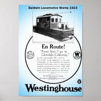 Baldwin-Westinghouse Locomotive 1923 Poster