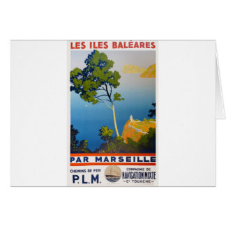 Balearic Islands Vintage French Travel Card