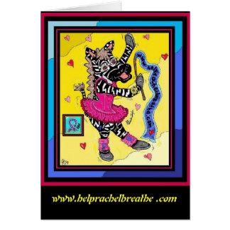 Baleeria Zebra Card