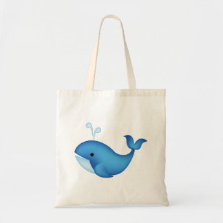 Baleine bleue sac en toile budget