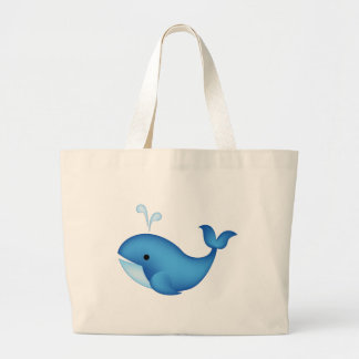 Baleine bleue sac en toile jumbo