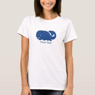 Baleine de très bon goût bleue nautique t-shirt