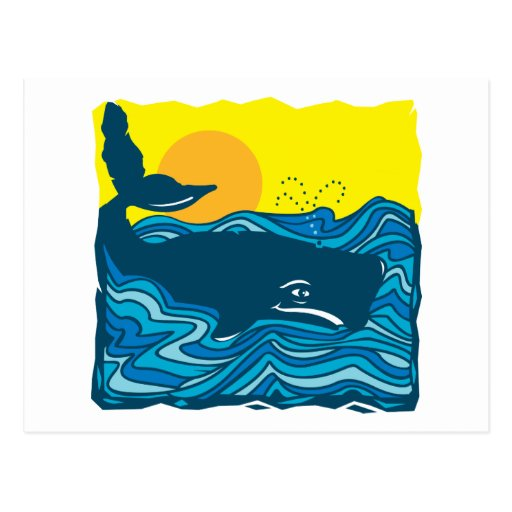 Baleine mignonne cartes postales