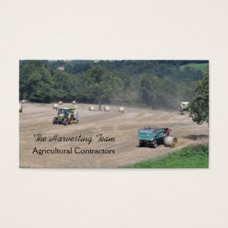 Baler and combine harvesting business card