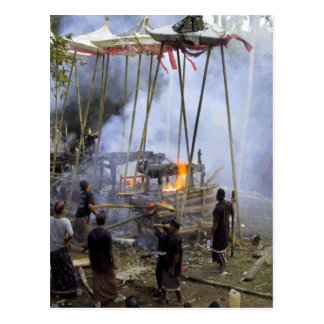 Bali, Balinese funeral ceremony Postcard