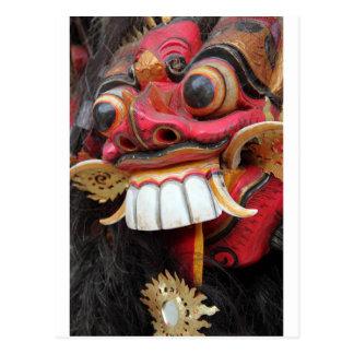 Bali Barong mask Postcard