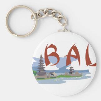 Bali Basic Round Button Keychain