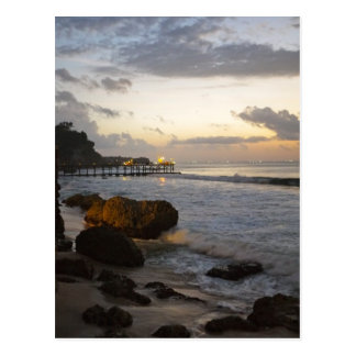 Bali beach view postcard