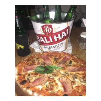 Bali beer and Pizza Letterhead