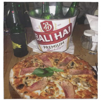 Bali beer and Pizza Napkin