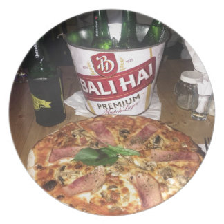 Bali beer and Pizza Plate